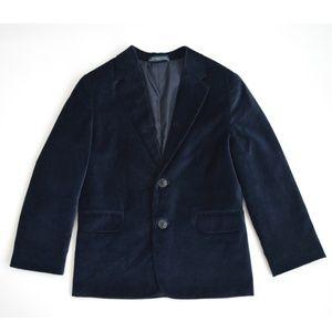Boys Nautica Velvet Blazer Jacket